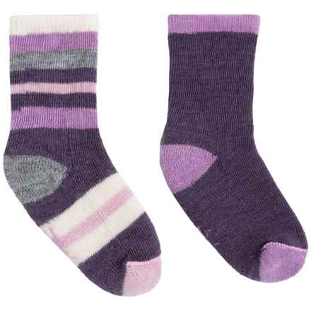 SmartWool Sock Sampler - 2-Pack, Merino Wool (For Infants and Toddlers) in Desert Purple Heather - Closeouts