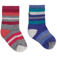 SmartWool Sock Sampler - 2-Pack, Merino Wool (For Infants and Toddlers) in Grape Stripe/Punch Stripe - Closeouts