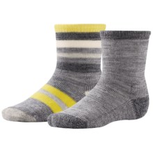 SmartWool Sock Sampler - 2-Pack, Merino Wool (For Infants and Toddlers) in Light Gray Heather - Closeouts
