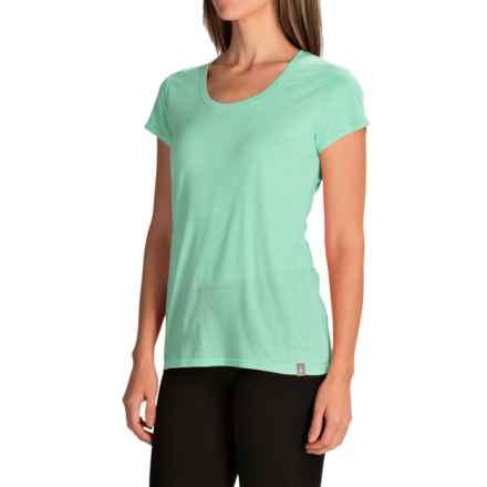 SmartWool Solid Scoop T-Shirt - Merino Wool-TENCEL®, Short Sleeve (For Women) in Mint - Closeouts