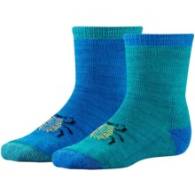 SmartWool Space For All Species Baby Bootie Batch Socks - 2-Pack (For Infants and Toddlers) in Capri - Closeouts