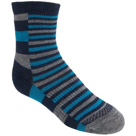 SmartWool Split Stripe Socks - Merino Wool, Crew (For Kids and Youth) in Deep Navy Heather