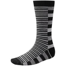 SmartWool Split Stripe Socks - Merino Wool, Crew (For Men) in Black - 2nds