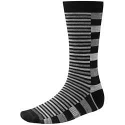 SmartWool Split Stripe Socks - Merino Wool, Crew (For Men) in Black