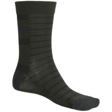 SmartWool Split Stripe Socks - Merino Wool, Crew (For Men) in Forest - 2nds