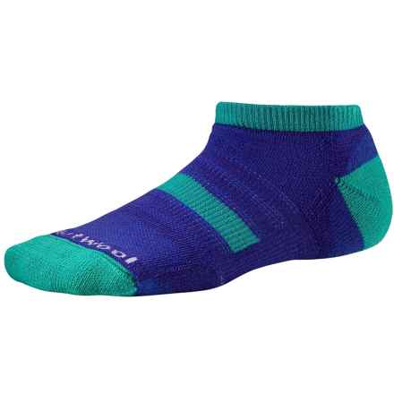 SmartWool Sport Micro Socks - Merino Wool, Ankle (For Little and Big Kids) in Purple - Closeouts