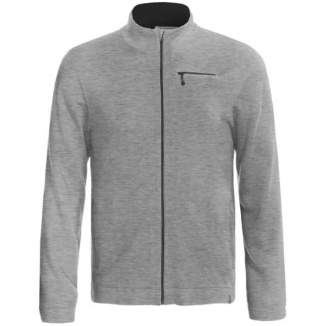 SmartWool Sportknit Full-Zip Sweater - Long Sleeve (For Men) in Silver Grey Heather