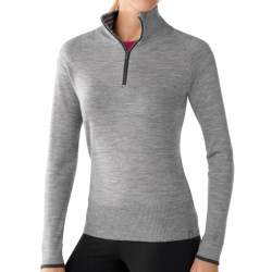 SmartWool Sportknit Shirt - Merino Wool, Zip Neck, Long Sleeve (For Women) in Silver Grey Heather