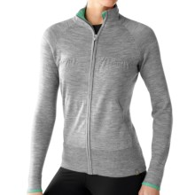 SmartWool SportKnit Sweater - Merino Wool, Full Zip (For Women) in Silver Grey Heather - Closeouts