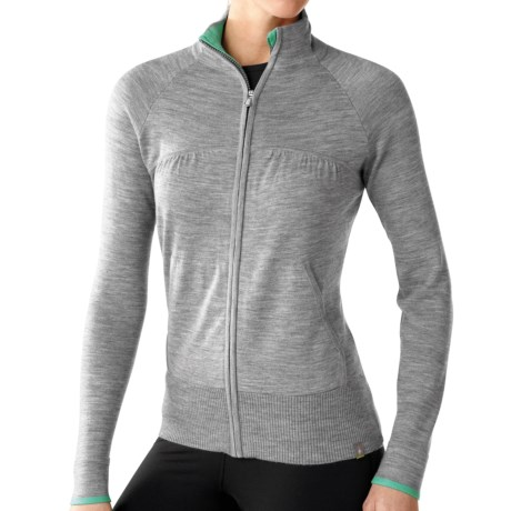 SmartWool SportKnit Sweater - Merino Wool, Full Zip (For Women) in Silver Grey Heather