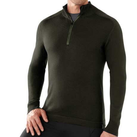 SmartWool Sportknit Sweater - Zip Neck, Long Sleeve (For Men) in Forest