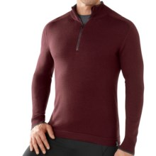 SmartWool Sportknit Sweater - Zip Neck, Long Sleeve (For Men) in Mahogany - Closeouts