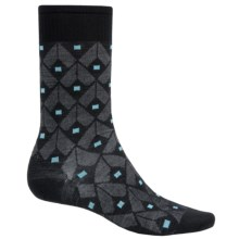 SmartWool Spotted Crew Socks - Merino Wool (For Men) in Black - Closeouts