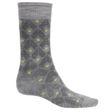SmartWool Spotted Crew Socks - Merino Wool (For Men) in Light Gray Heather - Closeouts