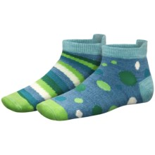 SmartWool Sprinkle Stripe Socks - Merino Wool (For Girls) in Surf Heather - 2nds