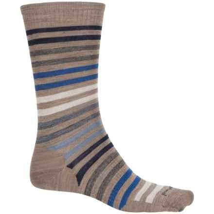 SmartWool Spruce Street Striped Socks - Merino Wool, Crew (For Men) in Fossil Heather - Closeouts
