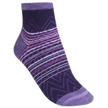 SmartWool Squiggle Stripe Socks - Merino Wool, Quarter-Crew (For Women) in Imperial Purple - 2nds