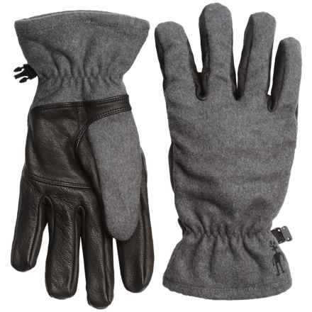 SmartWool Stagecoach Gloves - Merino Wool, Leather Palm (For Women) in Black - Closeouts