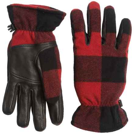 SmartWool Stagecoach Gloves - Merino Wool, Leather Palm (For Women) in Bright Red - Closeouts