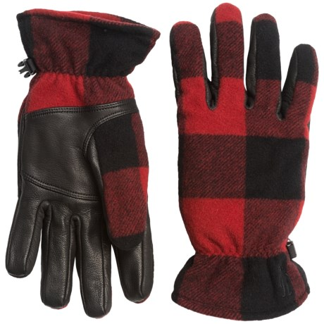 SmartWool Stagecoach Gloves - Merino Wool, Leather Palm (For Women) in Bright Red