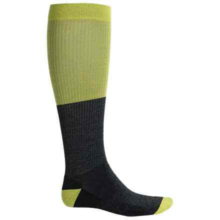 SmartWool Stand-Up Graduated Compression Pattern Socks - Over the Calf (For Men) in Smartwool Green - 2nds
