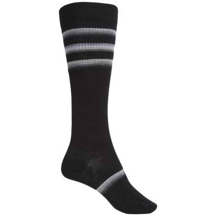 SmartWool Stand Up Graduated Compression Socks - Merino Wool, Over the Calf (For Women) in Black - Closeouts