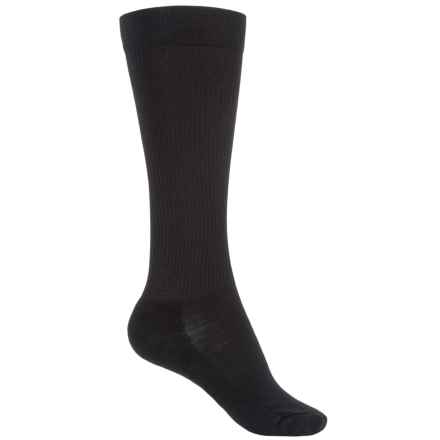 SmartWool Stand Up Graduated Compression Socks - Merino Wool, Over the Calf (For Women) in Black - 2nds