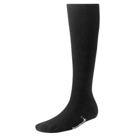 SmartWool StandUP Compression Socks - Merino Wool, Over the Calf (For Women) in Black - 2nds