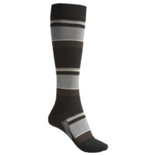 SmartWool StandUP Socks - Merino Wool, Compression (For Women) in Black/Multi Stripe - 2nds