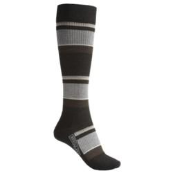SmartWool StandUP Socks - Merino Wool, Compression (For Women) in Black/Multi Stripe