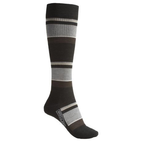 SmartWool StandUP Socks - Merino Wool, Compression (For Women) in Black/Multi Stripe