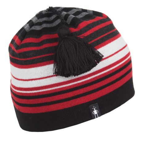 SmartWool Straightline Beanie - Merino Wool (For Men and Women) in Bright Red