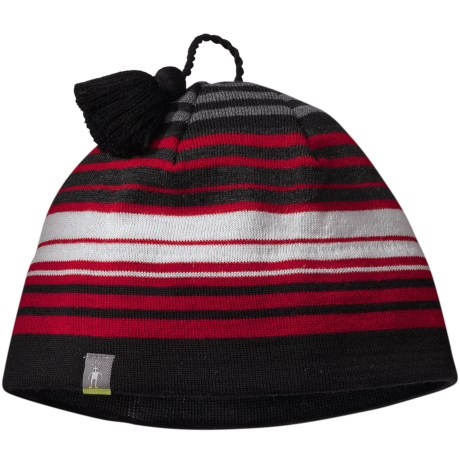 SmartWool Straightline It Hat - Merino Wool (For Men and Women) in Bright Red