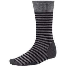 SmartWool Stria Socks - Merino Wool, Crew (For Men) in Black - 2nds