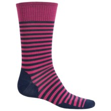 SmartWool Stria Socks - Merino Wool, Crew (For Men) in Bright Pink - 2nds