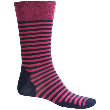 SmartWool Stria Socks - Merino Wool, Crew (For Men) in Bright Pink - Closeouts