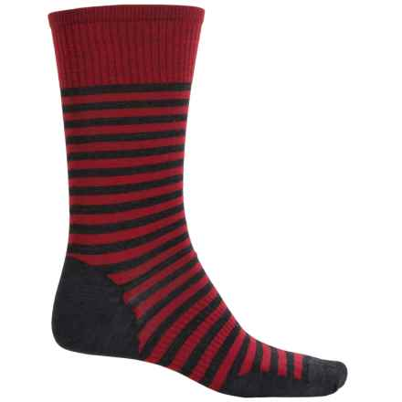 SmartWool Stria Socks - Merino Wool, Crew (For Men) in Crimson - 2nds