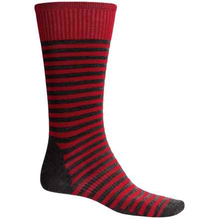 SmartWool Stria Socks - Merino Wool, Crew (For Men) in Crimson - Closeouts