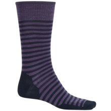 SmartWool Stria Socks - Merino Wool, Crew (For Men) in Desert Purple Heather - 2nds