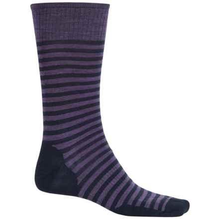 SmartWool Stria Socks - Merino Wool, Crew (For Men) in Desert Purple Heather - 2nds