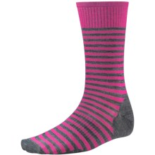 SmartWool Stria Socks - Merino Wool, Crew (For Men) in Impatient Pink - 2nds
