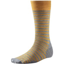 SmartWool Stria Socks - Merino Wool, Crew (For Men) in Light Gray Heather - 2nds