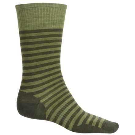 SmartWool Stria Socks - Merino Wool, Crew (For Men) in Loden Heather - 2nds