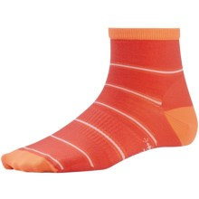 SmartWool Striated Stripe Socks - Merino Wool (For Women) in Poppy - Closeouts