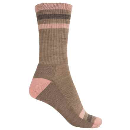 SmartWool Stripe Light Hiking Socks - Merino Wool, Crew (For Women) in Fossil - Closeouts