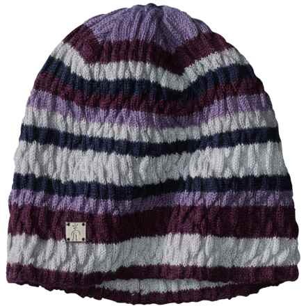 SmartWool Striped Chevron Beanie - Merino Wool (For Women) in Aubergine Heather - Closeouts