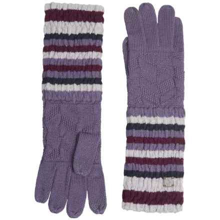 SmartWool Striped Chevron Gloves - Merino Wool (For Men and Women) in Desert Purple - Closeouts