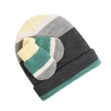 SmartWool Striped Hat and Mitten Set - Merino Wool (For Infants) in Medium Grey Heather - Closeouts