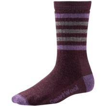SmartWool Striped Hike Light Socks - Merino Wool, Crew (For Women) in Aubergine - 2nds