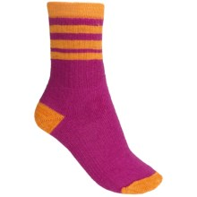SmartWool Striped Hike Light Socks - Merino Wool, Crew (For Women) in Berry/Tangerne - 2nds